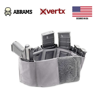 Панель (ремінь) для прихованого носіння зброї та аксесуарів Vertx Unity Clutch Belt Grey