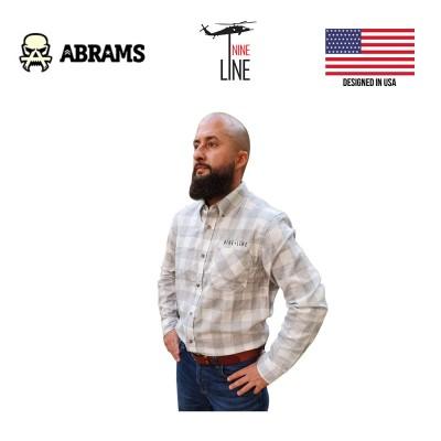 Рубашка фланелевая Nine Line Men's Plaid Flannel Heather Grey White Plaid