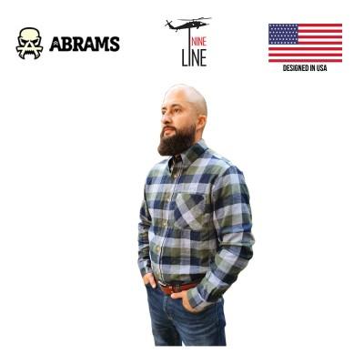 Рубашка фланелевая Nine Line Men's Plaid Flannel Navy Green Plaid