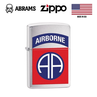 Зажигалка Zippo 82nd Airborne Brushed Chrome