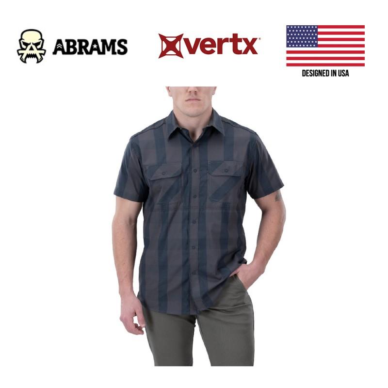 Тактическая рубашка Vertx Guardian 2.0 Short Sleeve Shirt Blue Ash Plaid