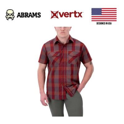 Тактическая рубашка Vertx Guardian 2.0 Short Sleeve Shirt Campfire Red Plaid