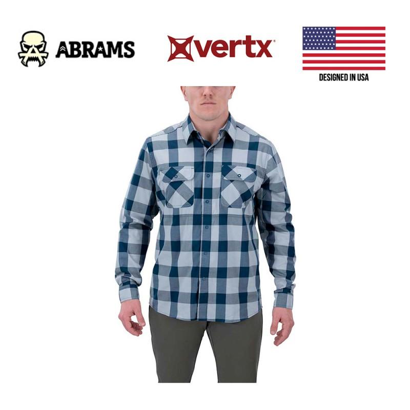 Тактическая рубашка Vertx Guardian 2.0 Long Sleeve Shirt Navy Cross Plaid