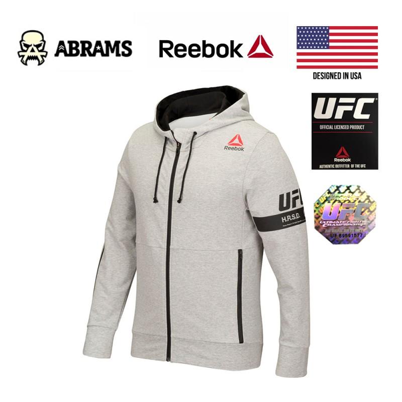 Кофта худи Reebok UFC UFAN FZ Hoody Grey