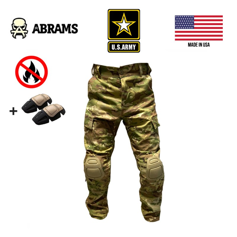 Штаны огнеупорные Army Combat Pants FR Multicam + наколенники Crye Precision Airflex Combat Knee Pads