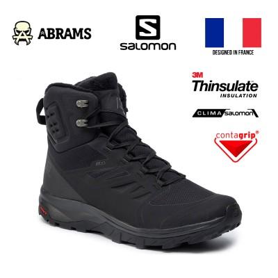 Ботинки утепленные зимние Salomon OUTblast TS CSWP Black с мембраной Climasalomon®