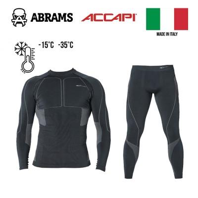 Термобілизна компресійна Accapi Polar Bear X-Warm Black / Anthracite комплект