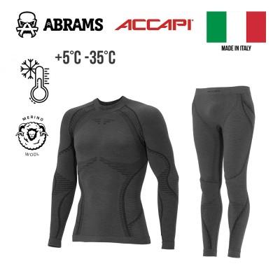Шерстяное термобелье компрессионное Accapi Ergowool X-Warm Iron / Black комплект