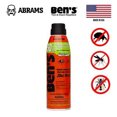 Репеллент спрей от насекомых BEN'S Tick and Insect Repellent 177 мл