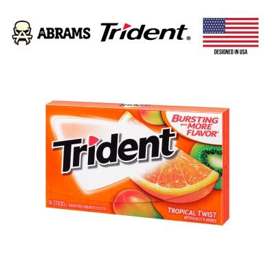 Жевательная резинка Trident Tropical Twist USA - Тропические фрукты