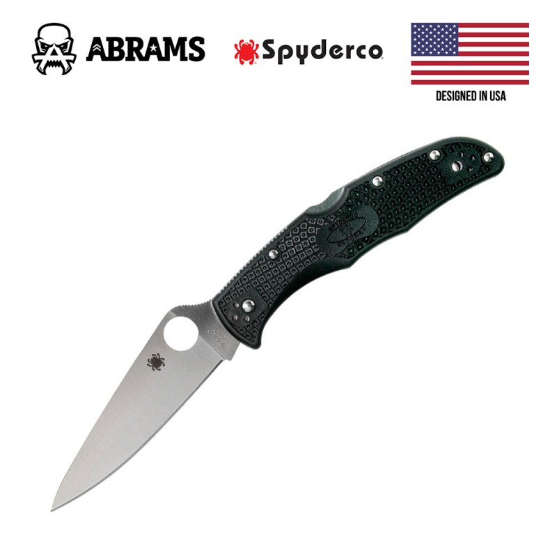 Складной нож Spyderco Endura4 Black FRN Flat Ground