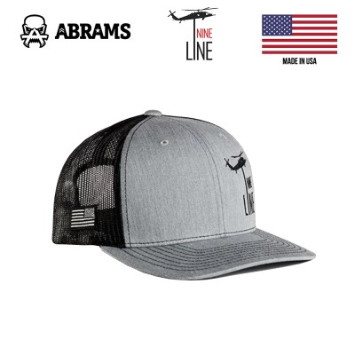 Кепка Nine Line Dropline Hat by Richardson Heather Grey