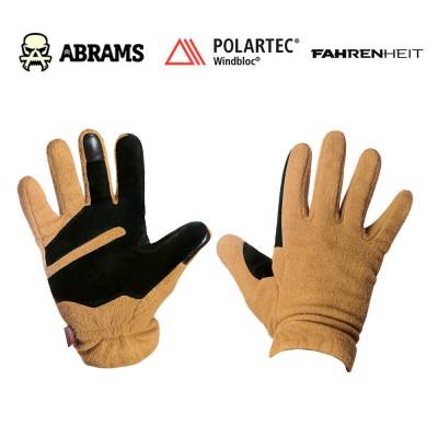 Перчатки флисовые непродуваемые Fahrenheit Polartec Windblock Tactical Coyote