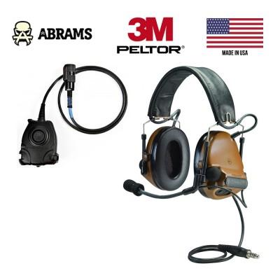 Активні навушники 3M  Peltor ComTac III Single Comm + кнопка PTT