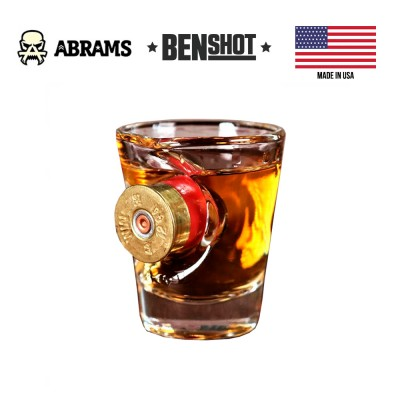 Рюмка с гильзой 12 калибра BenShot Shotgun Shell Shot Glass 57 грамм