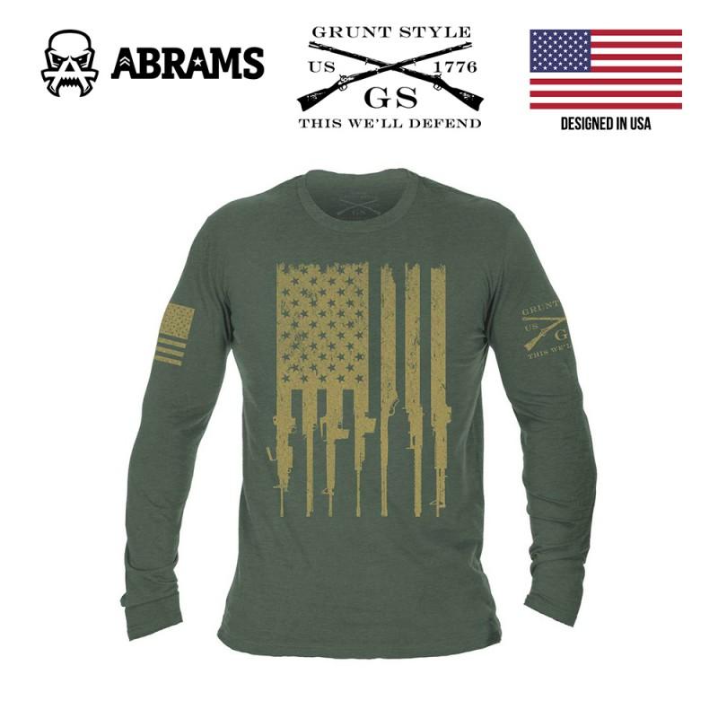 Реглан кофта Grunt Style Rifle Flag Long Sleeve