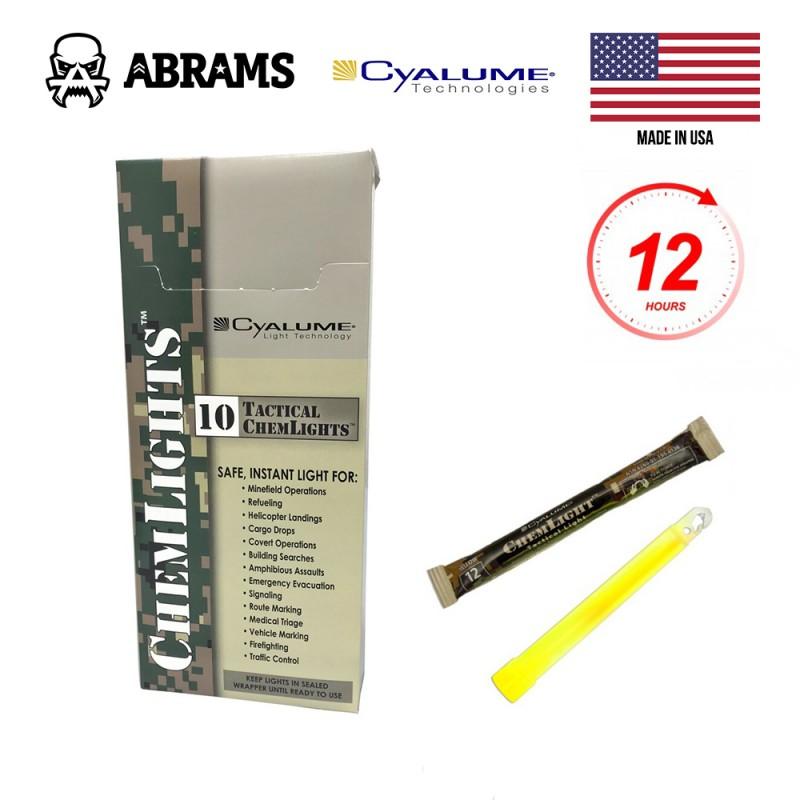 Cyalume ChemLight Military Chemical Light Sticks Yellow (10 шт.)