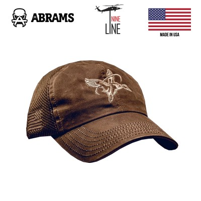 Кепка Nine Line Waxed Tan American Made Mesh Back Hat - Halo Waterfowl