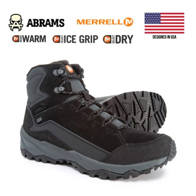 Трекинговые зимние ботинки Merrell Icepack Mid Polar Winter Boots Black