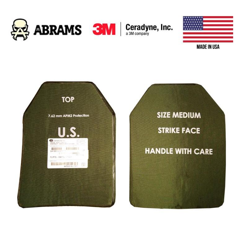 Керамическая бронепластина в бронежилет ESAPI - Medium класс 6 (класс 4 США stand alone 7.62 APM2)