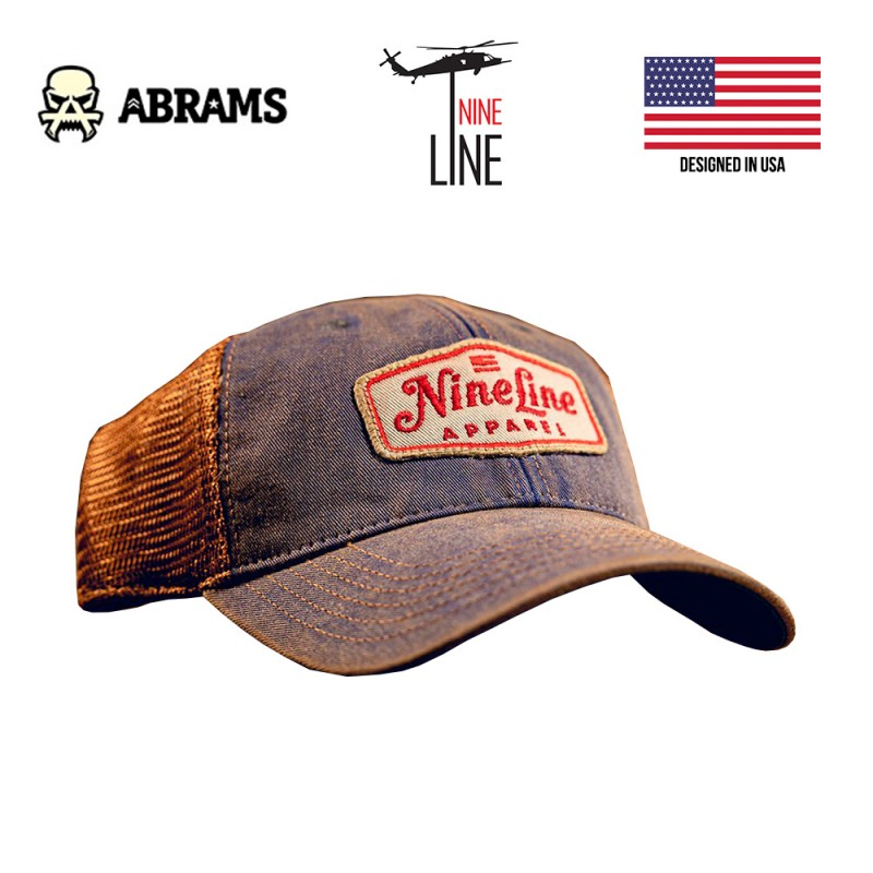 Кепка Nine Line Classic Trucker Hat Red NLA Patch - Blue Copper