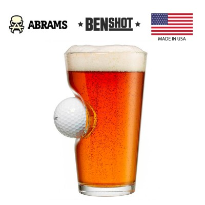 Стакан с мячом для гольфа BenShot Golf Ball Pint Glass 470 ml