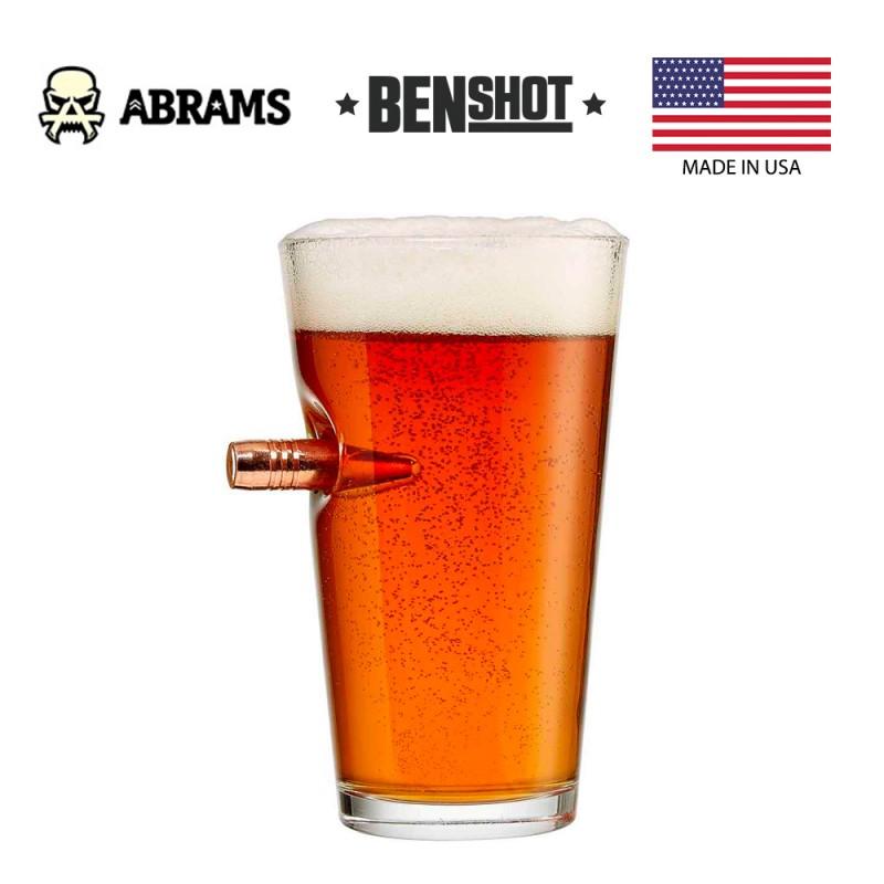 Стакан с пулей 50BMG калибра BenShot Pint Beer Glass 470 ml