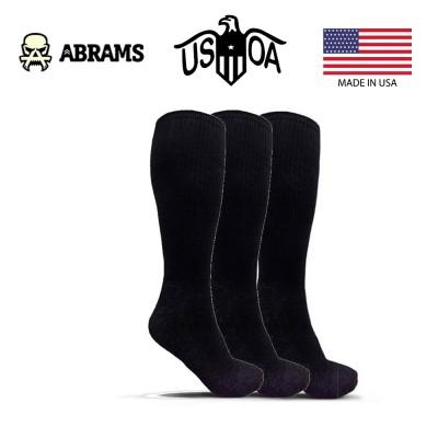 Носки антимикробные USOA — Black (Три пары)