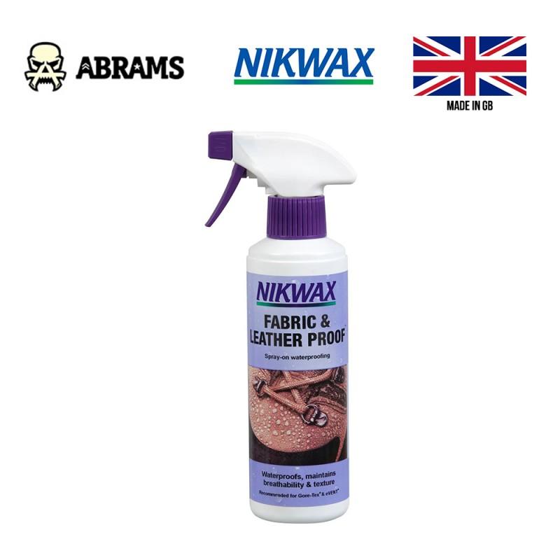 Водоотталкивающая пропитка для обуви из кожи и ткани Nikwax Fabric & Leather Proof 300ml