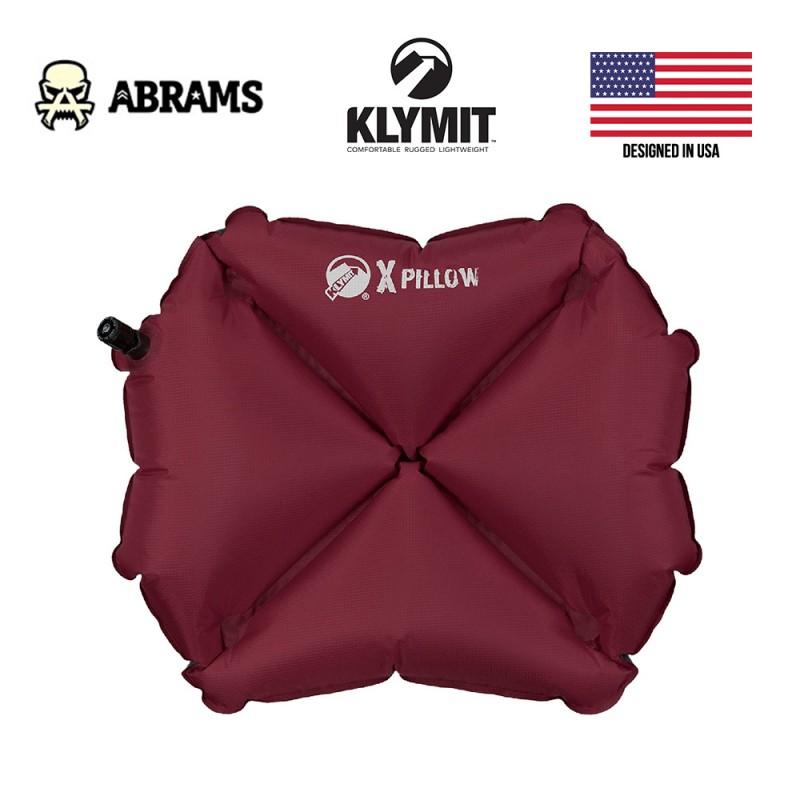 Тактическая надувная подушка Klymit Pillow X Burgundy