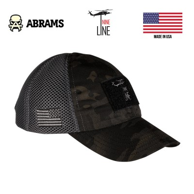 Кепка Nine Line Dark American Made Mesh Back Hat with Drop Line