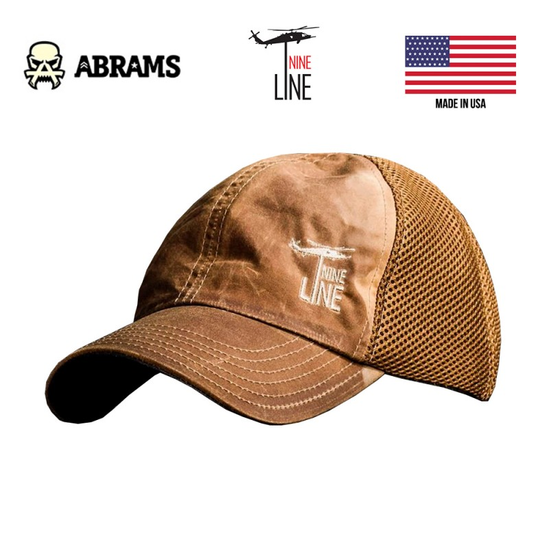Кепка Nine Line Tan American Made Mesh Back Hat with Drop Line