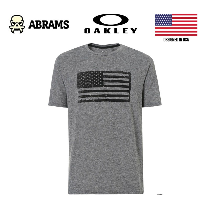 Футболка Oakley Men SC-Mil Flag Gray, размер L