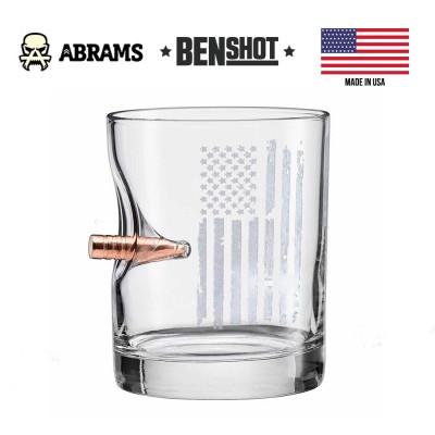 Стакан с пулей калибр 308 BenSHot Patriotic Rocks Glass 325 ml