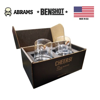 Подарочный набор стаканов с пулей калибр 308 BenShot Gift Set 325 ml