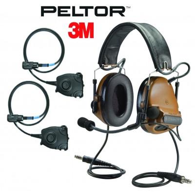 Активные наушники 3M / Peltor ComTac III Dual Comm + 2 кнопки PTT