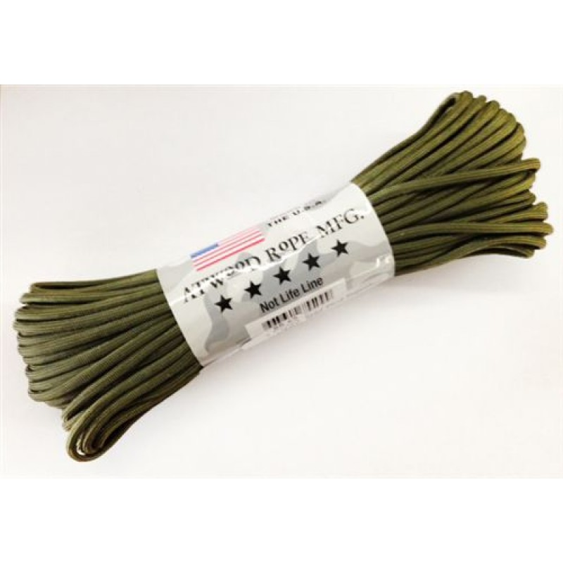 Паракорд Atwood Rope MFG 550 Paracord 100ft Olive Drab