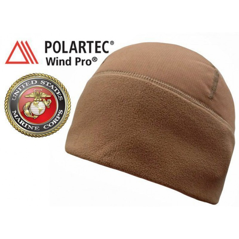 Шапка ветростойкая Polartec® Wind Pro Hardface USMC COYOTE BROWN
