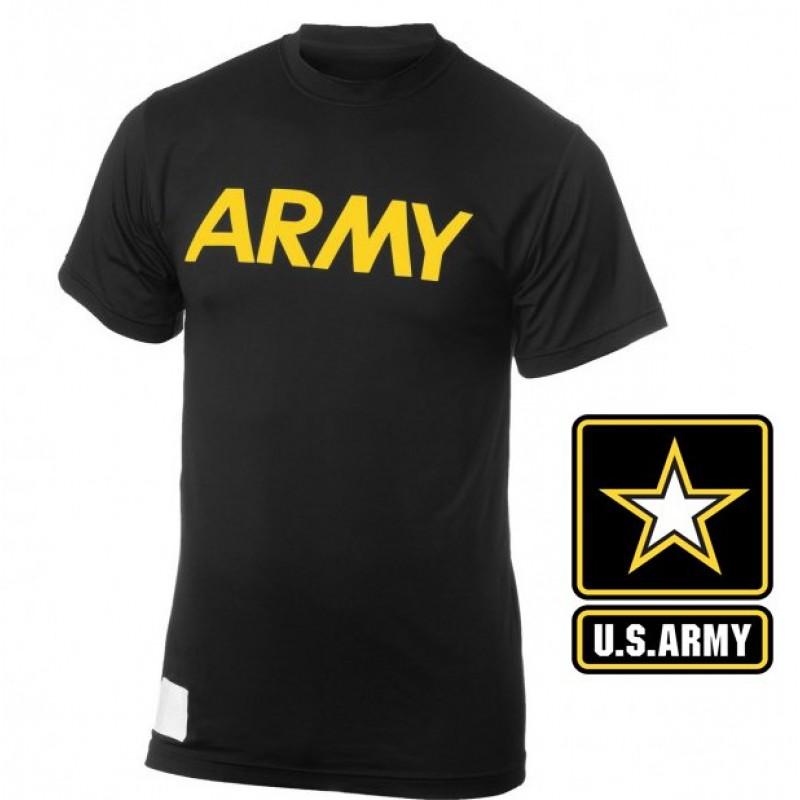 Футболка для занятий спортом нового образца US ARMY PT Shirt Black, размер S