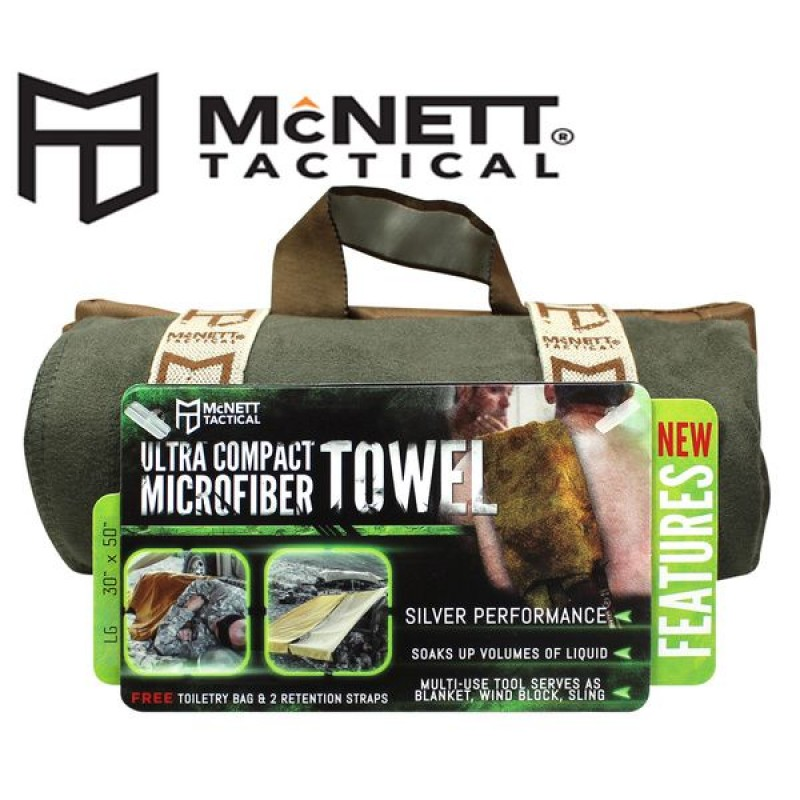 Полотенце McNett Tactical Ultra Compact Microfiber Towel L - OD Green