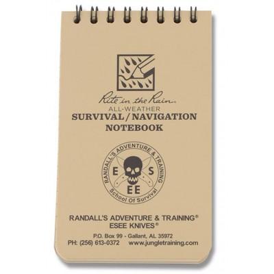 Блокнот всепогодній для навігації Rite In The Rain Survival  Navigation Notebook