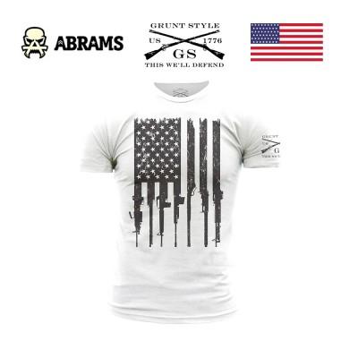 Футболка Grunt Style White Rifle Flag