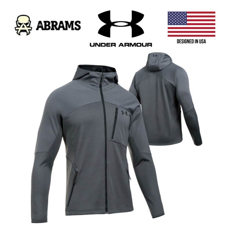 Куртка Under Armour ColdGear Reactor Fleece Zip Hooded Jacket - Rhino Gray